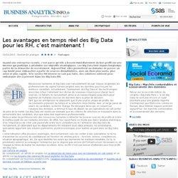 Les avantages en temps réel des Big Data pour les RH, c'est maintenant ! « En Pratique