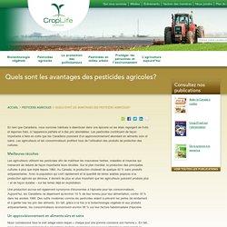 Quels sont les avantages des pesticides agricoles? - CropLife Canada