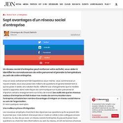 Sept avantages d'un réseau social d'entreprise