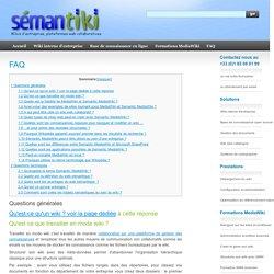Qu'est ce qu'un wiki ? Quels sont les avantages de Semantic MediaWiki ?