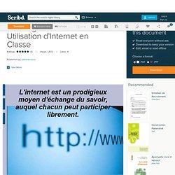 Avantages Et Bonne Utilisation d'Internet en Classe