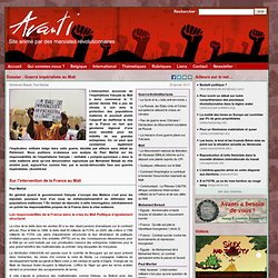 Dossier : Guerre impérialiste au Mali