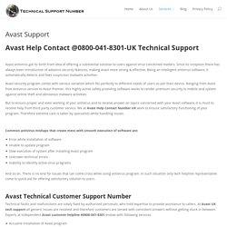 Avast Antivirus Help 0800-078-6877 Number