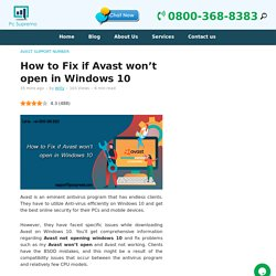 How to Fix if Avast won't open in Windows 10 - PcSupremo Blog