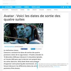 Avatar : Voici les dates de sortie des quatre suites