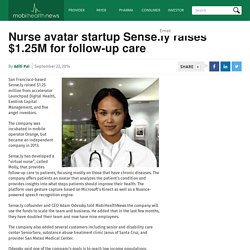 Nurse avatar startup Sense.ly raises $1.25M for follow-up care