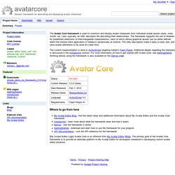 avatarcore - Generic framework for describing and displaying avatar characters