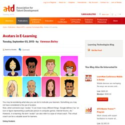 Avatars in E-Learning