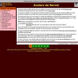 Avatars de Nerval