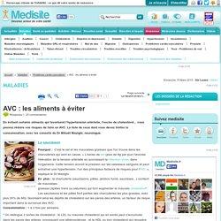AVC : les aliments à éviter
