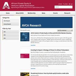 AVCA Research - AVCA