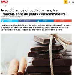 Avec 6,6 kg de chocolat par an, les Français...