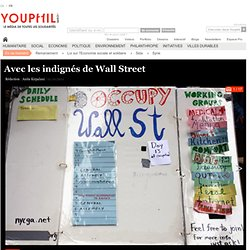 Avec les indignés de Wall Street