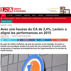 Avec une hausse du CA de 3,4%, Leclerc a...