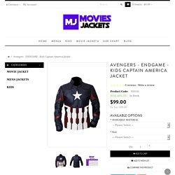 Avengers - Kids Captain America Jacket Infinity War Jacket