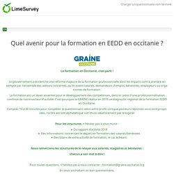 Quel avenir pour la formation en EEDD en occitanie ?