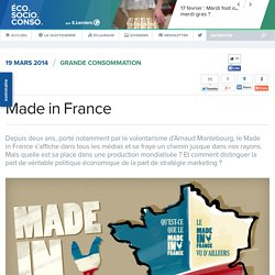 Quel avenir pour le Made In France? - EcoSocioConso