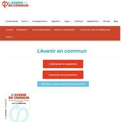 L'Avenir en commun, programme de Jean-Luc Mélenchon