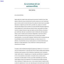 La aventura de un automovilista - Italo Calvino