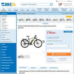FOCUS AVENTURA BOSCH PRO Herren Elektrofahrrad 2016 - greymatt - Bike24