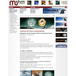 L'aventure de la Terre en bande dessinée - Information aux médias - 2010 - Muséum d'histoire naturelle de la Ville de Genève