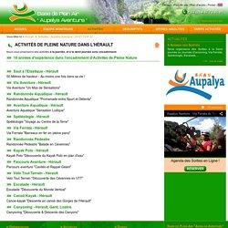 APN34 : Aupalya Aventure - Spécialiste des Activités de Pleine Nature dans l'Hérault