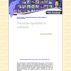 Club Aventure - Agence de voyages- Tourisme équitable