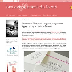 Interview : Graines de caprice, l'impression typographique made in France