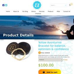 Yellow Aventurine Bracelet for balance, optimism & confidence