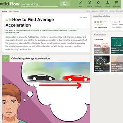 How to Find Average Acceleration: 10 Steps