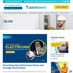 Prices and Average Hourly Rates Charged by the Electricians