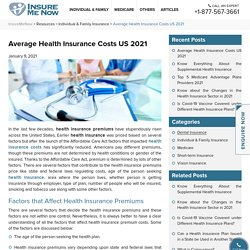2021 Average Health Insurance Costs in the US