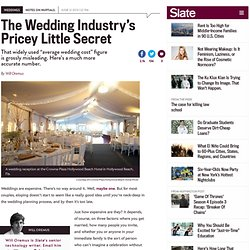 Average wedding cost: published numbers on the price of a wedding are totally inaccurate