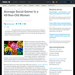 Average Social Gamer Is a 43-Year-Old Woman