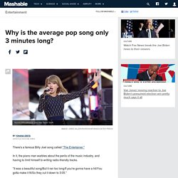Why is the average pop song only 3 minutes long?
