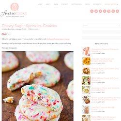 Chewy Sugar Sprinkles Cookies