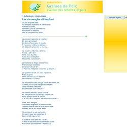 Les six aveugles et l'éléphant / Contes de paix / Outils de paix / Graines de Paix