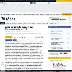 Avez-vous lu le rapport sur l'homophobie 2011 ?