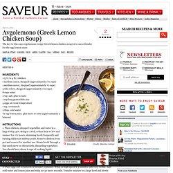Avgolemono (Greek Lemon Chicken Soup) Recipe