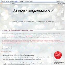 Avgolemono , soupe de pâtes grecque
