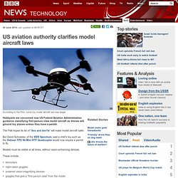 US aviation authority clarifies model aircraft laws