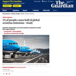 1% of people cause half of global aviation emissions – study