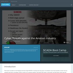 Cyber Threats against the Aviation Industry