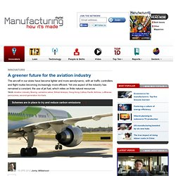A greener future for the aviation industry