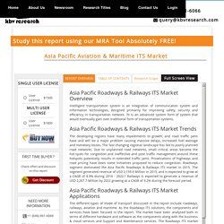 Asia Pacific Aviation & Maritime ITS Market - Market Research Report & Analytics Tool - KBV Research