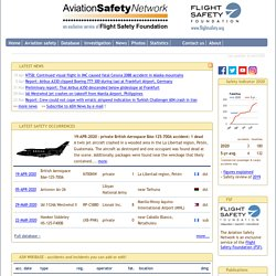 Aviation Safety Network >