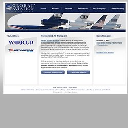 Global Aviation Holdings - Worldwide Passenger & Cargo Charter Services