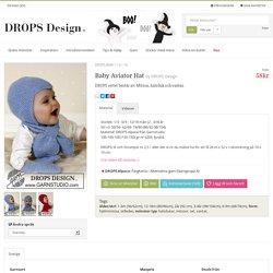 Baby Aviator Hat - DROPS settet består av: Mössa, halsduk och vantar. - Free pattern by DROPS Design