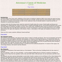 """Avicenna's Canon of Medicine."""