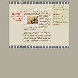 Avidemux - Main Page